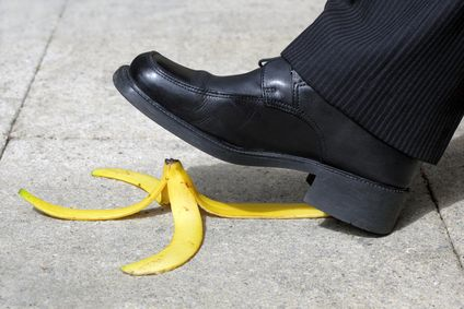 Slip and fall on a banana