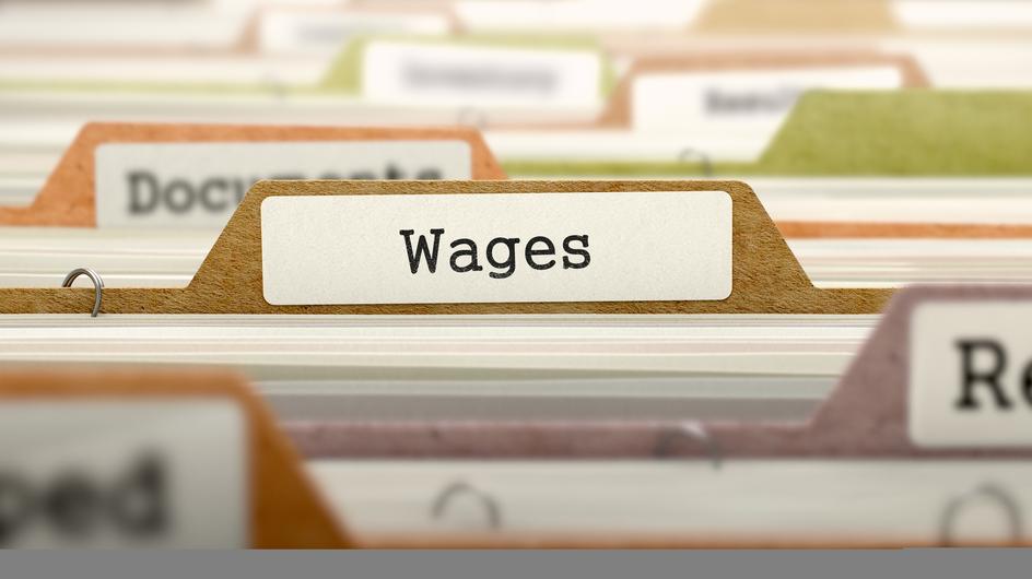 Wages Concept on Folder Register.