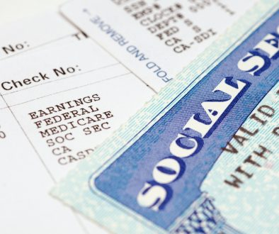 Social secruity cards with statements.